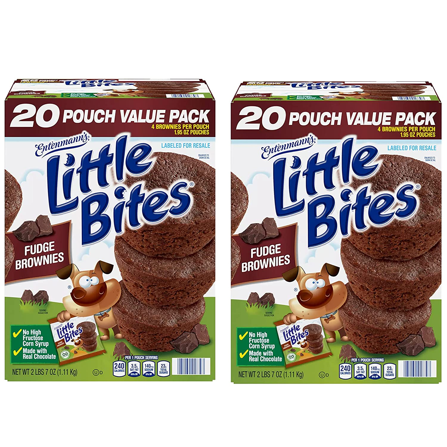 Entenmann's Little Bite Fudge Special price for a limited time Brownies - Corn High Fructose No Superior S