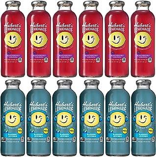 LUV-BOX Variety HUBERT'S Lemonade Juice pack of 12 , 16fl oz , Blackberry , Blueberry