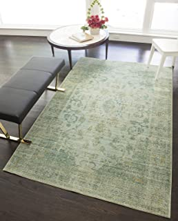 Rugs America Power Loomed Area Rug, 5-ft 0-in x 8-ft 0-in, Green