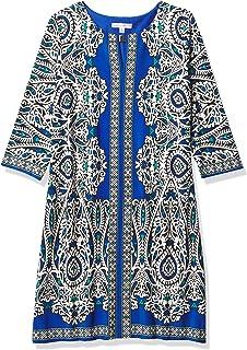 فستان حريمي ماركة Sandra Darren قطعة واحدة 3/4 كم مطبوع عليه Ity Shift