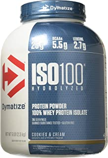 Sponsored Ad - Dymatize Nutrition ISO 100 Whey Protein - Cookies and Cream 5 lbs.