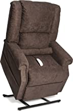 Mega Motion Infinite Position Power Easy Comfort Lift Chair Lifting Recliner FC-101 Infinite Recline Rising Electric Chaise Lounger - Java Brown Color Fabric