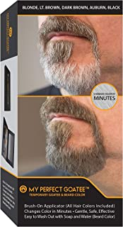My Perfect Goatee & Beard Temporary Color (All Hair Colors Included) Brush-On Applicator | Changes Color in Minutes | Gent...