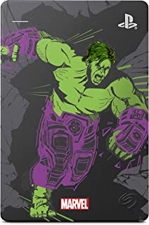 Seagate Game Drive for PS4 Marvel's Avengers LE - Hulk 2TB External Hard Drive - USB 3.0, Metallic Grey, Officially Licen...