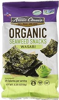 Annie Chun's Organic Seaweed Snacks, Wasabi, 0.35 oz (Pack of 12), America's #1 Selling Seaweed Snack