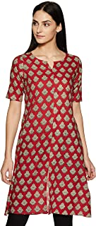 ABOF Women's Cotton a-line Kurta