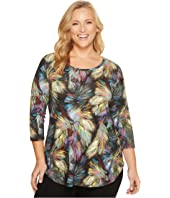 Karen Kane Plus - Plus Size 3/4 Sleeve Shirttail Tee