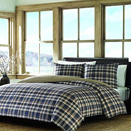 Eddie Bauer Port Gamble Duvet Cover Set King Blue