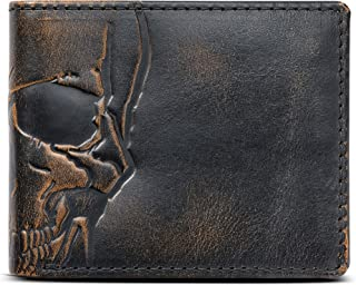 leather wallet skull