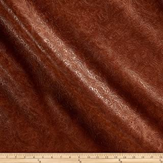 Plastex Fabrics 0488611 Faux Leather Textured Western Bourbon Fabric by the Yard