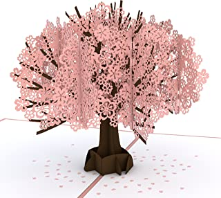 Lovepop Cherry Blossom Pop Up Card - 3D Card, Mother's Day Card, Pop Up Mother`s Day Call, Card for Wife, Card for Mom, Anniversary Pop Up Card, Spring Card, Greeting Card Pop Up, Pop Up Birthday Card