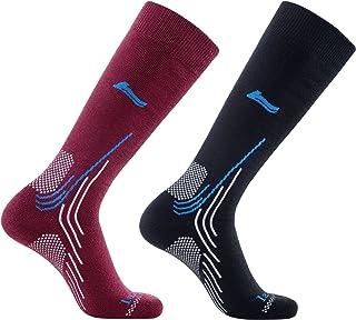 Alta calidad Lana de merino calcetines de esquí (4 diseños en para hombre y mujer