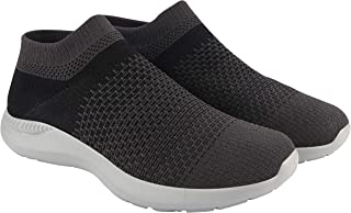 ATHLEO by Action Men Synthetic Fabric EVA Sole Slip on Outdoor Running Sports Shoes