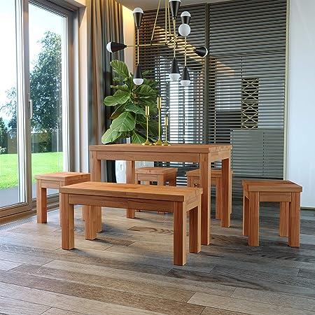 Krok Wood Table à Manger en hêtre Milano en Bois Massif (110 x 75 x 77 cm)