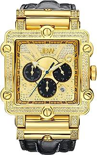 Luxury Men's Phantom 2.38 ctw Diamond Wrist Watch with Leather Bracelet