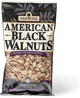 Hammons Black Walnuts, Fancy Large, 4 oz, Highest Protein Nut, Heart Healthy, Non-GMO, Naturally Gluten-Free, Top Keto Nut