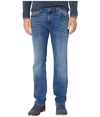 Mavi Jeans Zach Straight Leg in Mid Foggy Williamsburg (Mid Foggy Williamsburg) Men