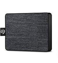 Seagate One Touch SSD, 500 GB, Disco duro externo portátil SSD, gris/blanco, USB-C, USB 3.0 para PC y Mac, 1 año de suscripción a Mylio Create, 2 meses de suscripción Adobe CC Photography (STJE500400)