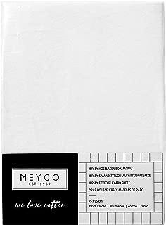 70x140//150cm 100/% Baumwolle Wei/ß Kinderbett Meyco 465000 Musselin Mull Hydrophil Spannbetttuch
