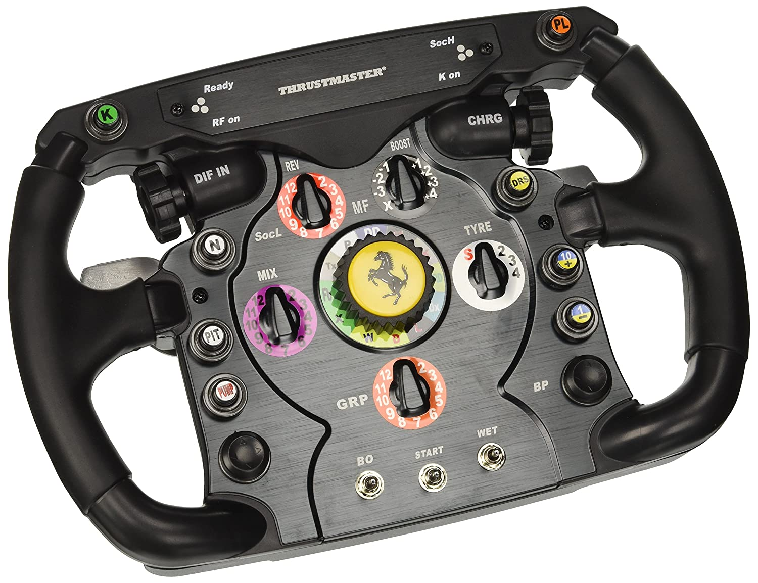 Thrustmaster F1 Wheel Add On Die Abnehmbare Ferrari 150th Italia Rennlenker Replik Fur Ps4 Xbox Pc Amazon De Games