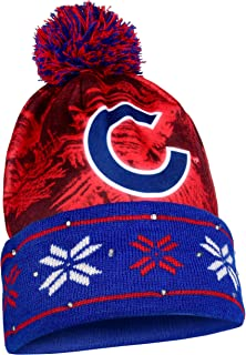 d919a975eee Chicago Cubs Big Logo Light Up Printed Beanie
