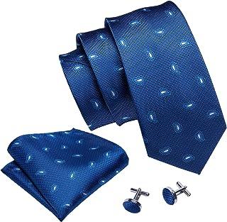 Barry.Wang Ties for Men Designer Hanky Cufflinks Necktie Set WOVEN