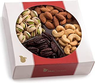 Holiday Nuts Gift Basket, 4-Sectional Elegant Mixed Nuts Assortment, Gourmet Christmas Food Box Prime Gift, Great for Thanksgiving, Birthday, Mothers, Fathers Day, Corporate Tray By Nut Cravings