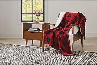 6ebc63b9c8 Better Homes and Gardens Super Soft and Warm Winter Velvet Plush Reversible  to Sherpa Throw Blanket