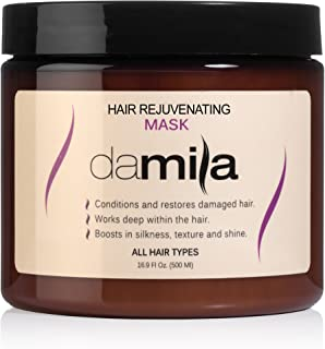 Hydration Hair Mask for all hair types - Best Damaged Hair Treatment/Repair Mask for Hair Uses Hydrolyzed Keratin to Strengthen and Moisturize (16.9 oz / 500 ml) by Damila