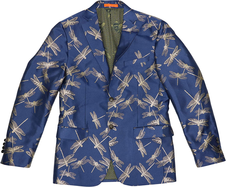 Tallia Men's Slim Same day shipping Fit Metallic Finally popular brand Blazer Sport Dragonfly Print Coat