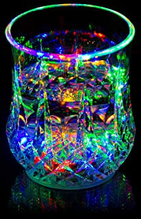 Liquid Activated Multicolor LED Glass ~ Fun Light Up Drinking Tumbler - 6 oz.