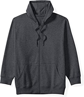 Amazon Essentials Men's Big & Tall Full-Zip Hooded Fleece Sweatshirt fit by DXL