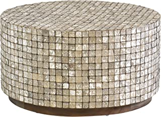 East At Main Cummings Coconut Shell, Tumbled Granite Coffee Table, Grey