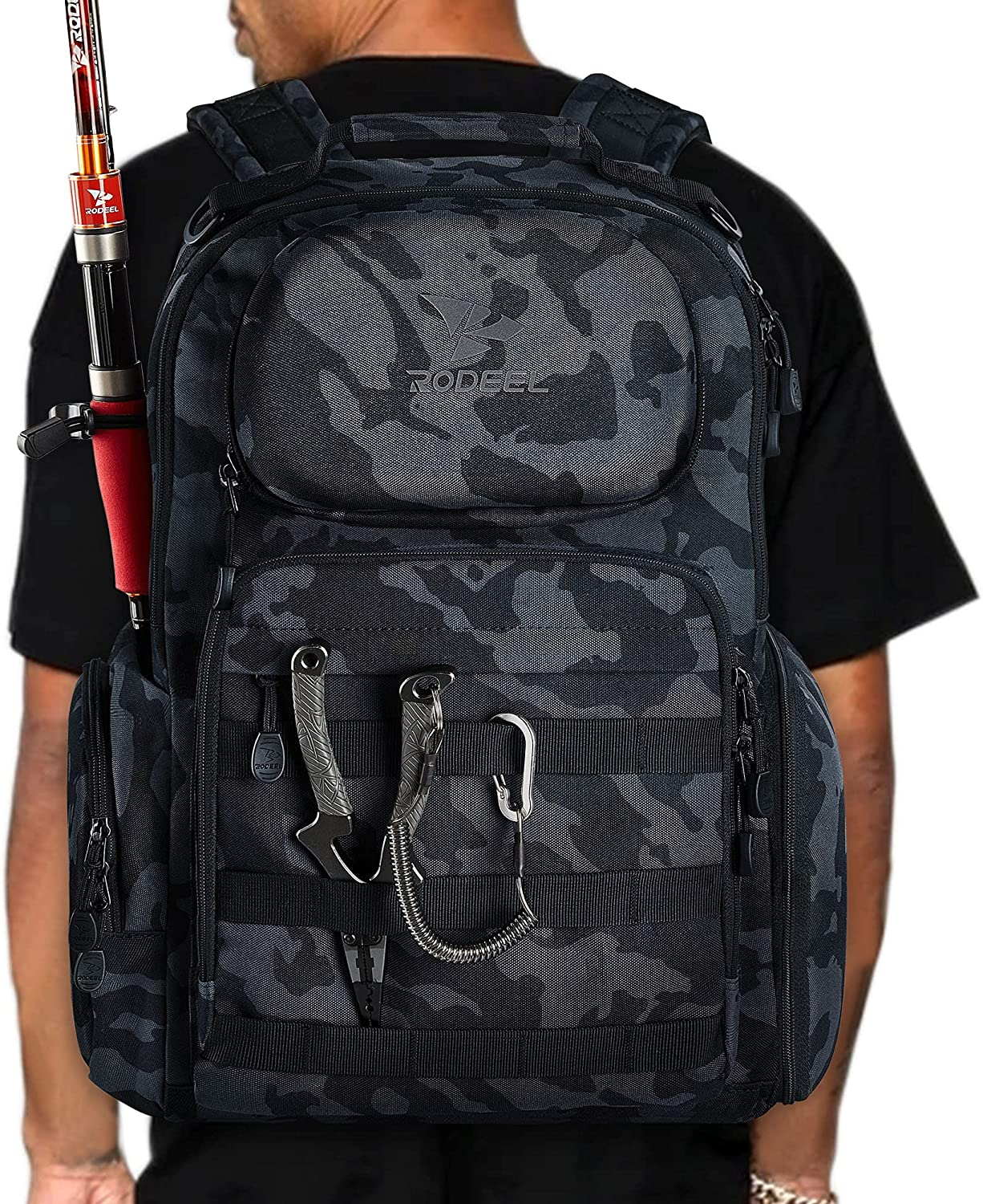 Rodeel Fishing Tackle Backpack Multi-functional Louisville-Jefferson County Mall Popular shop is the lowest price challenge Storage Large ba