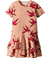 mini rodini - Swallows Frill Dress (Infant/Toddler/Little Kids/Big Kids)