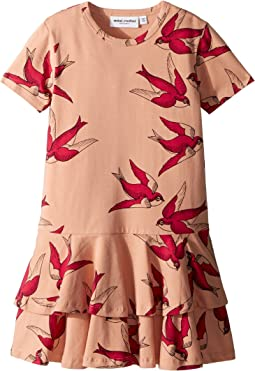 mini rodini Swallows Frill Dress (Infant/Toddler/Little Kids/Big Kids)