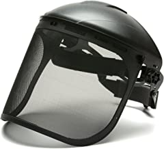 Pyramex Safety Full Face Shield Eye & Head Protection (Headgear Not Included), Black Mesh Steel Wire Mesh - ANSI Z87.1 for Mesh Safety