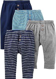 Simple Joys by Carter's Bébé garçon Pantalon En Coton, Lot de 4