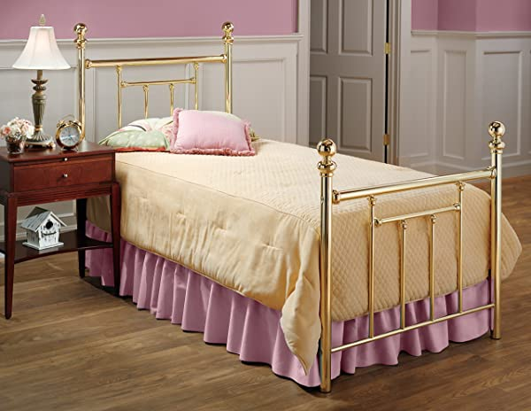 Hillsdale Furniture 1035BTW Chelsea Bed Set Twin Classic Brass
