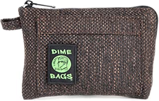 Dime Bags Padded Pouch with Soft Padded Interior | Protective Hemp Pouch for Glass with Interior Smell Proof Pocket (Earth...