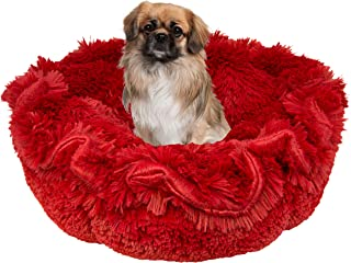 product image for BESSIE AND BARNIE Ultra Plush Lipstick/Blondie Luxury Shag Deluxe Dog/Pet Cuddle Pod Bed