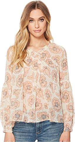 Lucky Brand - Pink Exploded Floral Top