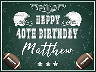 American Football Birthday Party Banner, Football Backdrop for Party, Birthday Gift Ideas, Birthday Decorations, Football Banner, Football Poster Backdrop, Party Photo 24x36, 48x24, 48x36, 24x18