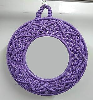 Macrame Nylon Handmade Round Shaped Wall Mirror