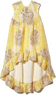 Anna Sui Womens Metallic Floral Jacquard High Lo Dress