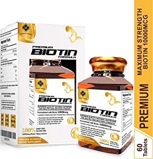 mountainor Biotin Maximum Strength Veg Gluten-free Capsule 10000 Mcg 60 Count