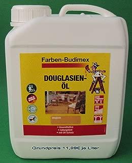 2,5 Liter Farben-Budimex Douglasienöl mit UV-Schutz, Farbton Douglasie / Hergestellt speziell für Holzindustrie