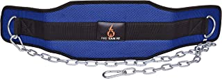 Fire Team Fit Weight Belt with Chain, Dip Belt for Weighted Pull Ups and Dips