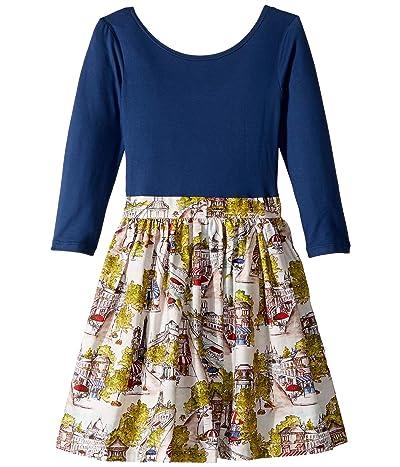 fiveloaves twofish Merci Abbie Dress (Toddler/Little Kids/Big Kids) (Wedgewood Blue) Girl