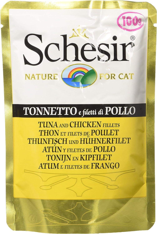 Schesir Gato Sobres 100 gr Atún con Pollo
